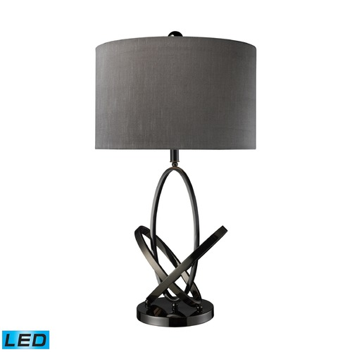 Dimond Lighting Dimond Lighting Black Nickel LED Table Lamp with Drum Shade D1874-LED