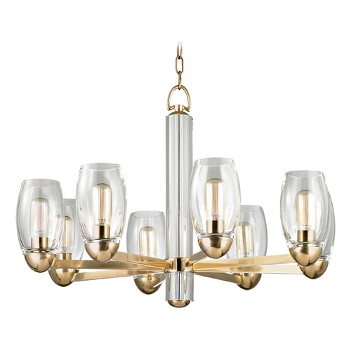 Hudson Valley Lighting Hudson Valley Lighting Pamelia Aged Brass Chandelier 8848-AGB