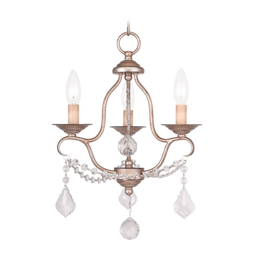 Livex Lighting Livex Lighting Chesterfield Antique Silver Leaf Crystal Chandelier 6423-73