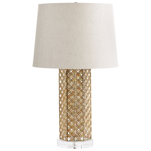 Cyan Design Cyan Design Woven Gold Antique Gold Table Lamp with Empire Shade 6606