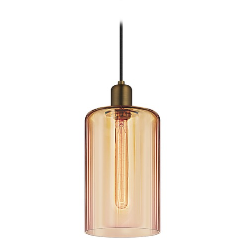 Sonneman Lighting Sonneman Cloche Retro Brass 1 Light Mini-Pendant Light   3191.21BZ