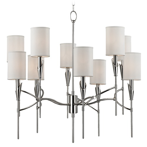 Hudson Valley Lighting Mid-Century Modern Chandelier Polished Nickel Tate by Hudson Valley Lighting 1305-PN