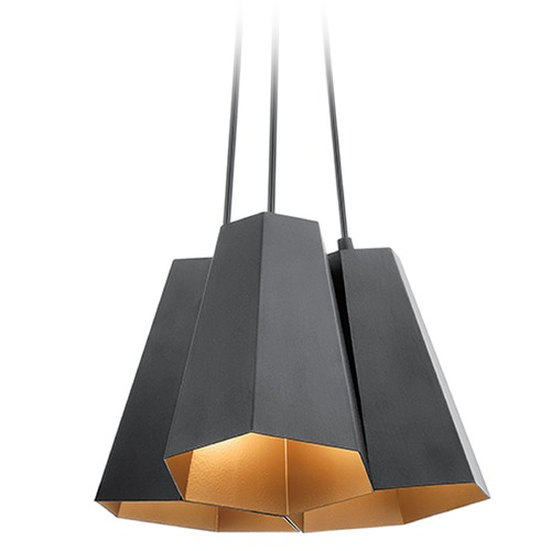 Kichler Lighting Kichler Lighting Aidan Pendant Light with Hexagon Shade 42797BK