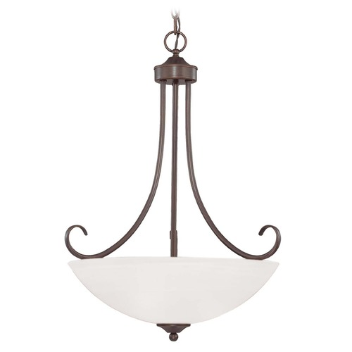 Craftmade Lighting Craftmade Lighting Raleigh Old Bronze Pendant Light with Bowl / Dome Shade 25323-OB-WG