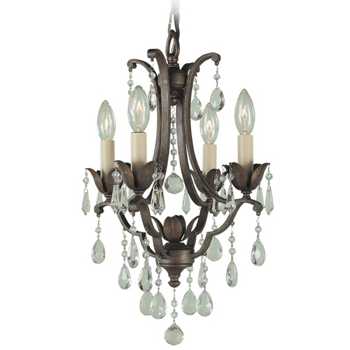 Feiss Lighting Mini-Chandelier in British Bronze Finish F1881/4BRB