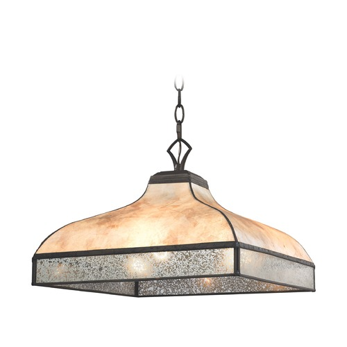 Elk Lighting Elk Lighting Santa Fe Tiffany Bronze Multi-Light Pendant with Square Shade 70203/3