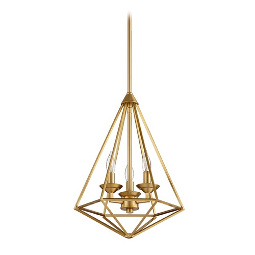 Quorum Lighting Quorum Lighting Bennett Aged Brass Pendant Light 8311-3-80