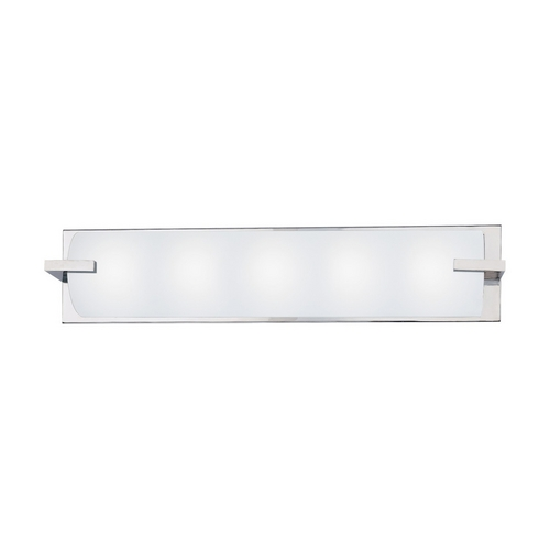Sonneman Lighting Modern Bathroom Light with White Glass in Polished Chrome Finish 3795.01