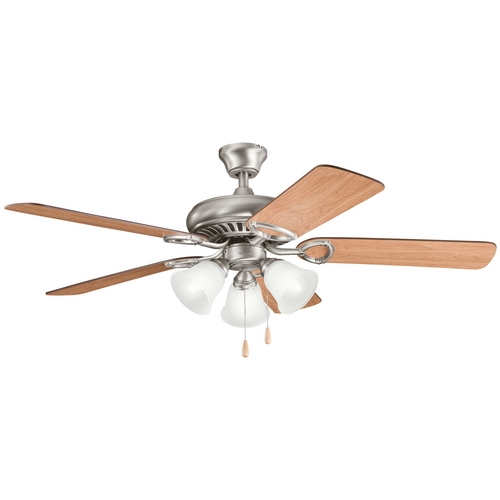 Kichler Lighting Kichler Ceiling Fan with Light Kit in Pewter Finish 339400AP