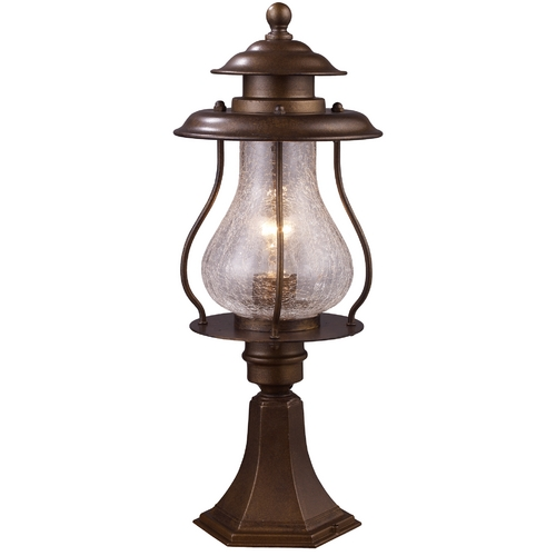 Elk Lighting Post Light with Clear Glass in Coffee Bronze Finish 62007-1