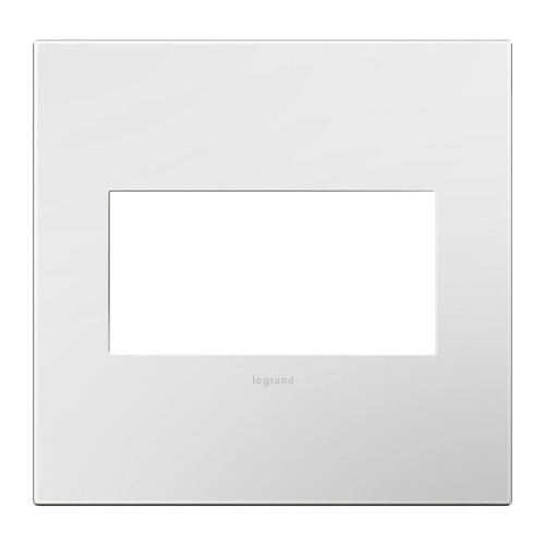 Legrand Adorne Two-Gang Wall Switch Plate Cover in Gloss White Finish AWP2GWH10