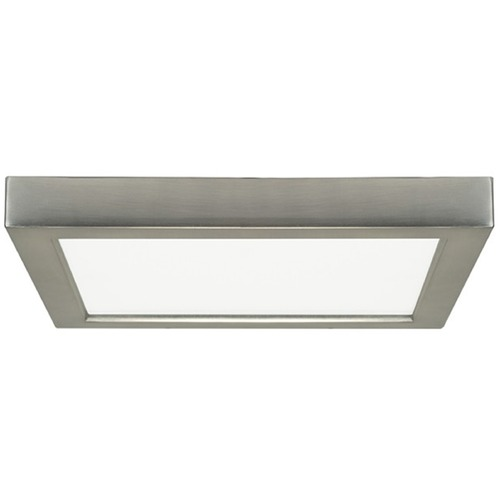Design Classics Lighting 9-Inch Square Satin Nickel Low Profile LED Flushmount Light - 2700K 8341-27-SN
