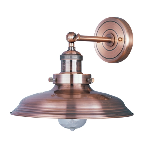 Maxim Lighting Maxim Lighting Mini Hi-Bay Antique Copper Sconce 25062ACP