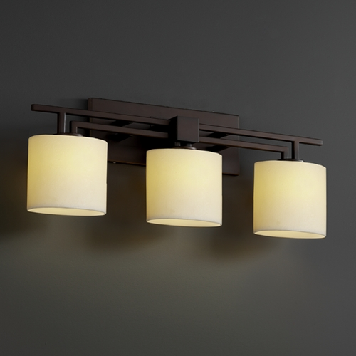 Justice Design Group Justice Design Group Candlearia Collection Bathroom Light CNDL-8703-30-CREM-DBRZ