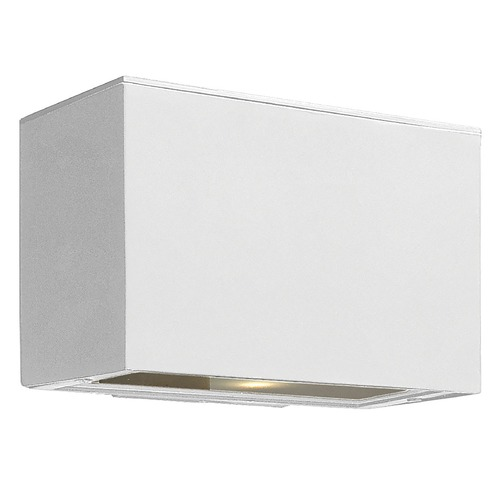 Hinkley Lighting Modern Outdoor Wall Light with Etched in Satin White Finish 1646SW