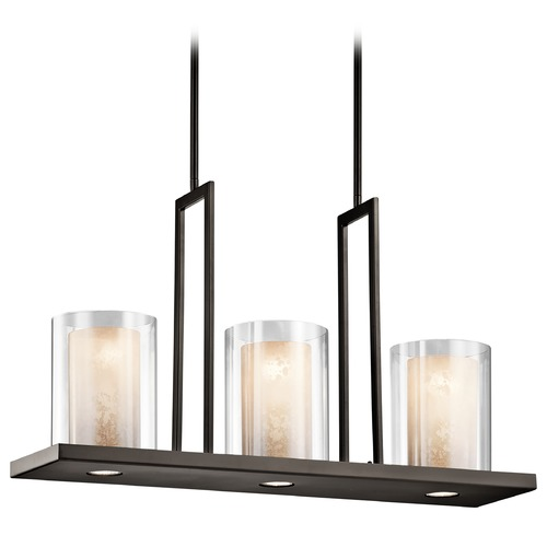 Kichler Lighting Kichler Lighting Triad Olde Bronze Island Light with Cylindrical Shade 42547OZ