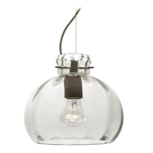 Besa Lighting Besa Lighting Pinta Bronze Pendant Light with Globe Shade 1KX-464488-BR