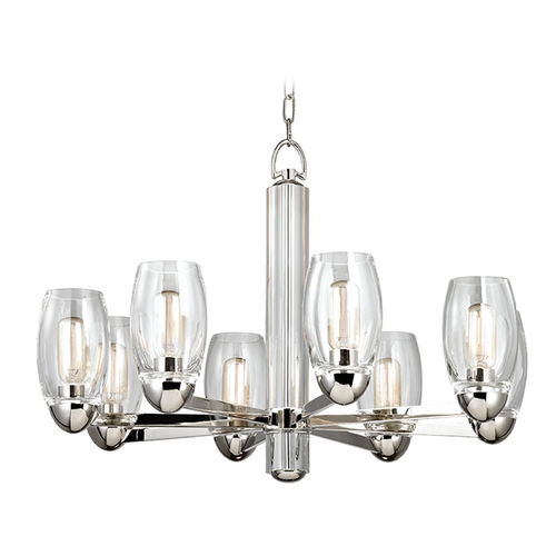 Hudson Valley Lighting Hudson Valley Lighting Pamelia Polished Nickel Chandelier 8848-PN