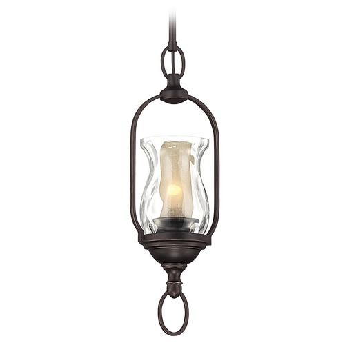 Savoy House Savoy House English Bronze W/gold Mini-Pendant Light with Bell Shade 7-6722-1-213