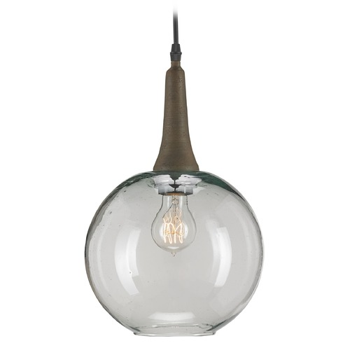 Currey and Company Lighting Beckett Emery Rust Mini-Pendant Light With Globe Shade 9600