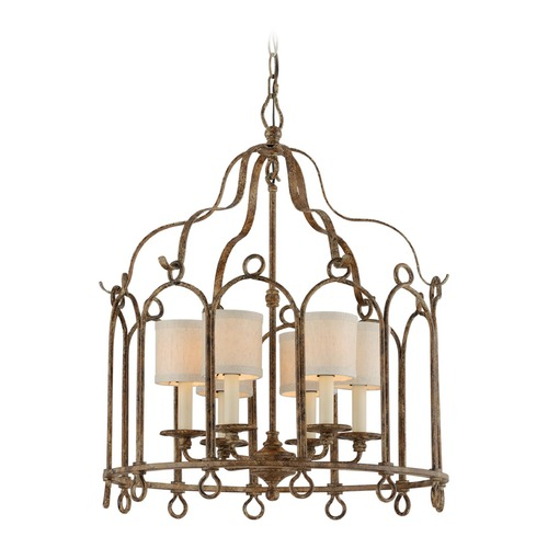Troy Lighting Troy Lighting Carousel Provence Bronze Pendant Light with Cylindrical Shade F4837