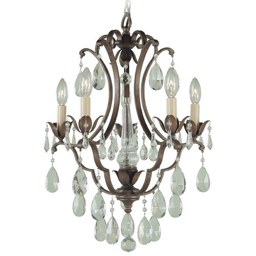 Feiss Lighting Mini-Chandelier in British Bronze Finish F1882/5BRB