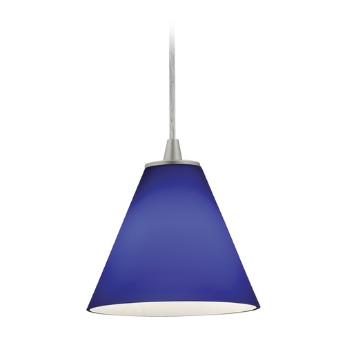 Access Lighting Access Lighting Martini Brushed Steel LED Mini-Pendant Light with Conical Shade 28004-3C-BS/COB
