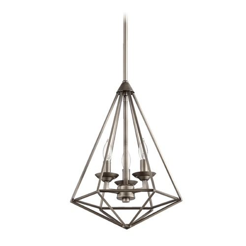 Quorum Lighting Quorum Lighting Bennett Antique Silver Pendant Light 8311-3-92