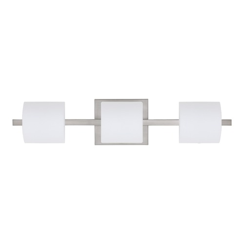 Besa Lighting Besa Lighting Paolo Satin Nickel LED Bathroom Light 3WS-787307-LED-SN