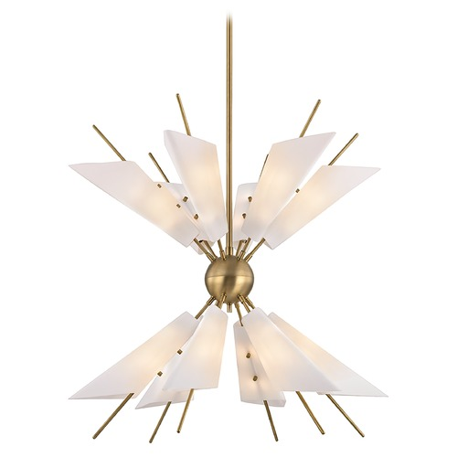Hudson Valley Lighting Hudson Valley Lighting Cooper Aged Brass LED Chandelier 8069-AGB