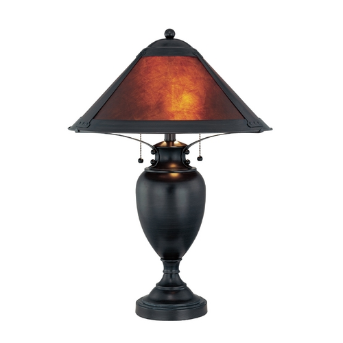 Lite Source Lighting Lite Source Lighting Mischa Dark Bronze Table Lamp with Mica Shade LS-21437