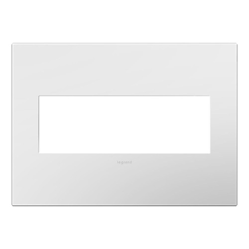 Legrand Adorne Three-Gang Wall Switch Plate Cover in Gloss White Finish AWP3GWH4