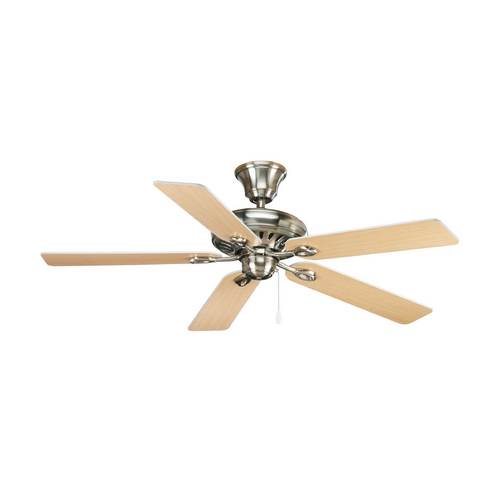 Progress Lighting Progress Ceiling Fan Without Light in Brushed Nickel Finish P2521-09