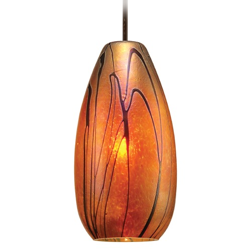 WAC Lighting Wac Lighting Pacific Northwest Collection Dark Bronze Mini-Pendant with Oblong Shad MP-954-IR/DB