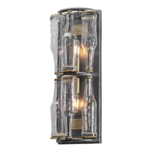 Troy Lighting Troy Lighting 121 Main Old Silver with Brass Accents Sconce B3942