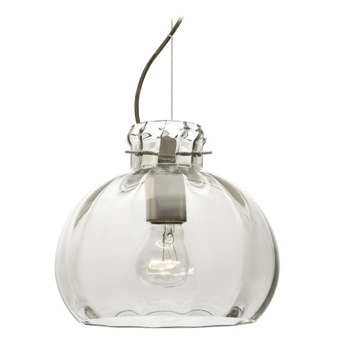 Besa Lighting Besa Lighting Pinta Satin Nickel Pendant Light with Globe Shade 1KX-464488-SN