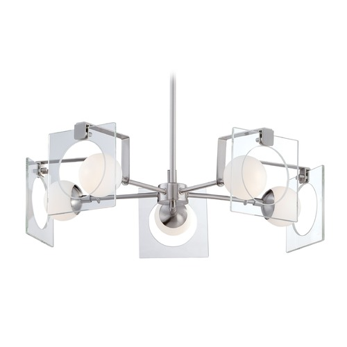 George Kovacs Lighting George Kovacs Hole-In-One Brushed Nickel Chandelier P995-084