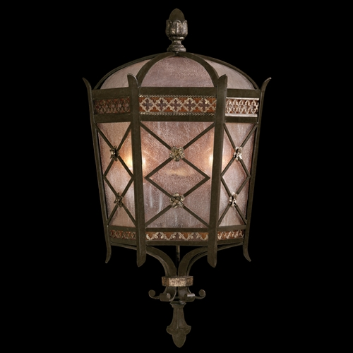Fine Art Lamps Fine Art Lamps Chateau Outdoor Umber Patina with Gold Accents Outdoor Wall Light 402781ST