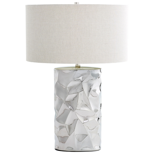 Cyan Design Cyan Design Liberty Chrome Table Lamp with Drum Shade 6611