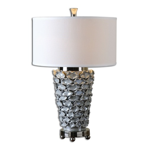 Uttermost Lighting Uttermost Petalo Pearl Gray Table Lamp 26769-1