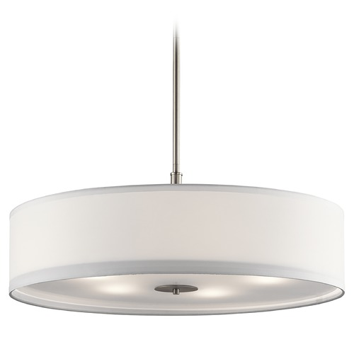 Kichler Lighting Kichler Lighting Pendant Light with Drum Shade 42196NI