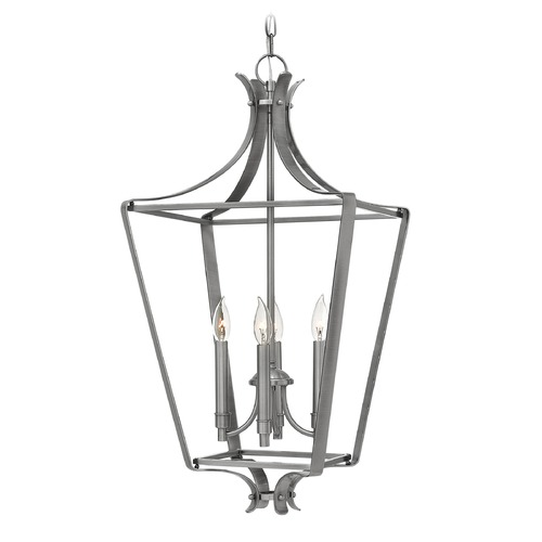 Hinkley Lighting Hinkley Lighting Fleming Polished Antique Nickel Pendant Light 4494PL
