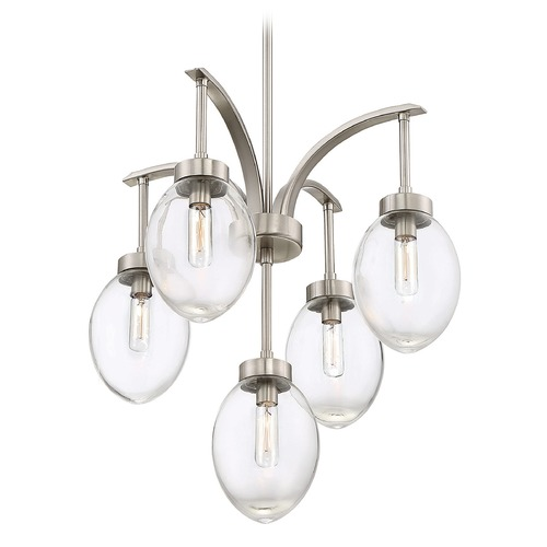 Savoy House Savoy House Lighting Ravenia Satin Nickel Mini-Chandelier 1-540-5-SN