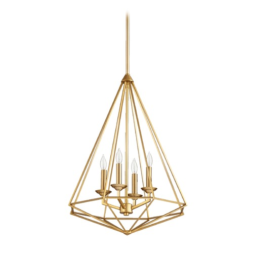 Quorum Lighting Quorum Lighting Bennett Aged Brass Pendant Light 8311-4-80