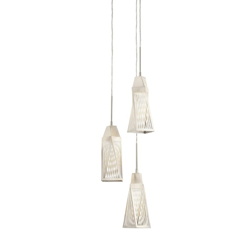 Elan Lighting Elan Lighting Vitalina Brushed Nickel + Stainless Steel LED Multi-Light Pendant with Bell Shade 83532