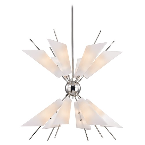 Hudson Valley Lighting Hudson Valley Lighting Cooper Polished Nickel LED Chandelier 8069-PN