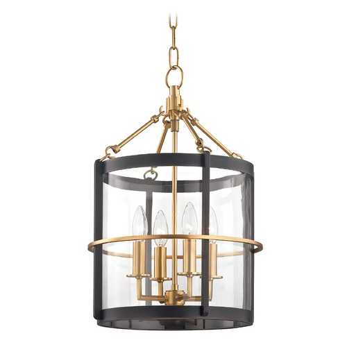 Hudson Valley Lighting Hudson Valley Aged Old Bronze Pendant Light with Clear Glass Shade BKO200-AOB