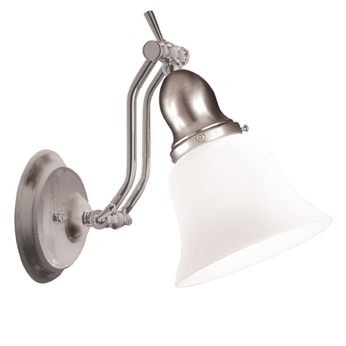 Hudson Valley Lighting Sconce with White Glass in Satin Nickel Finish 341-SN