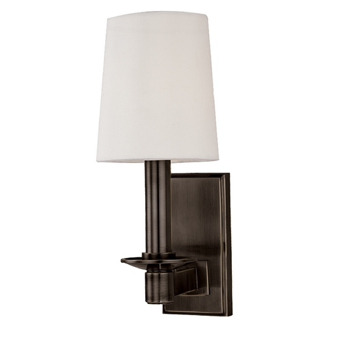 Hudson Valley Lighting Sconce Wall Light with White Shade in Old Bronze Finish 151-OB