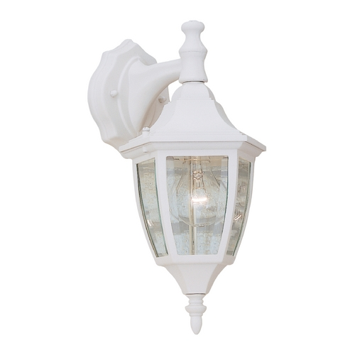 Designers Fountain Lighting Outdoor Wall Light with Clear Glass in White Finish 2461-WH